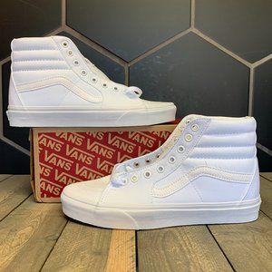 Womens Vans Sk8-Hi White Canvas Size 7.5